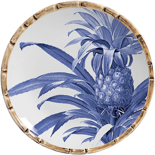 Sousplat Abacaxi Azul Royal