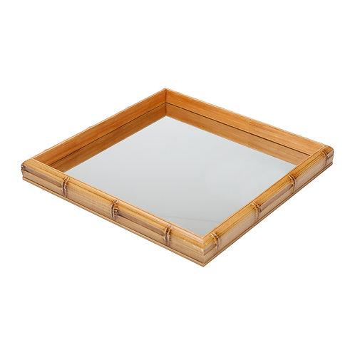 Bandeja Bambu com Espelho PEQUENO