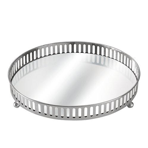 Bandeja metal cromado e espelho REF 5660
