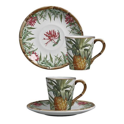 Xícara de Chá Abacaxi (6 unidades)