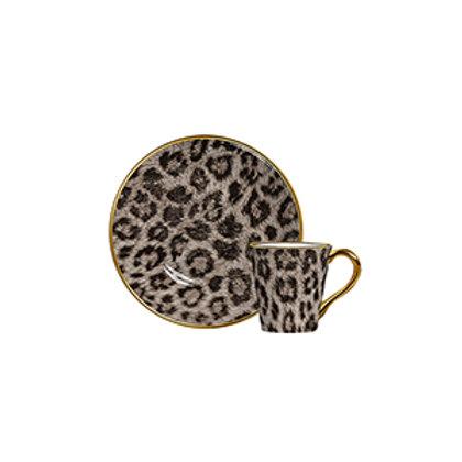 Xícara de Café c/p Animal Print (6 Peças)