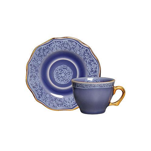 Xícara de Café c/p Mandarim Azul (6 Peças)