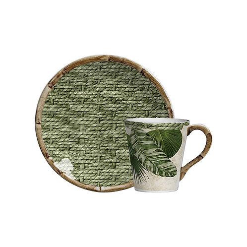 Xícara de Chá c/p Tropicalha (6 Peças)
