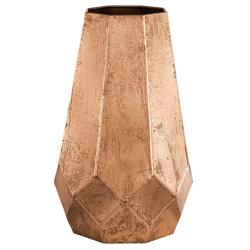 Vaso geométrico cobre REF 5554