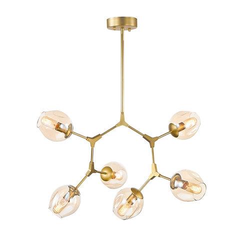 Luminaria dourada com 6 braços REF 5715