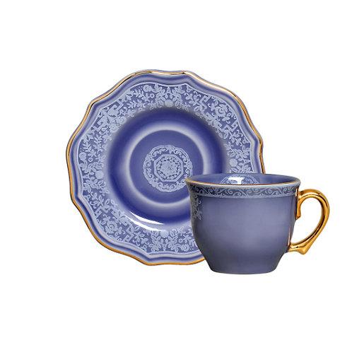 Xícara de Chá Mandarim Azul (6 unidades)