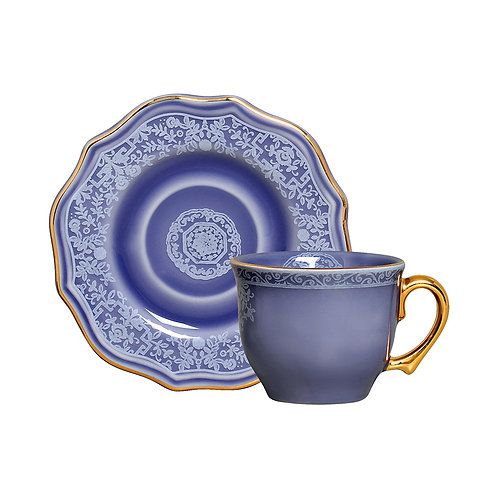 Xícara de Chá c/p Mandarim Azul (6 Peças)