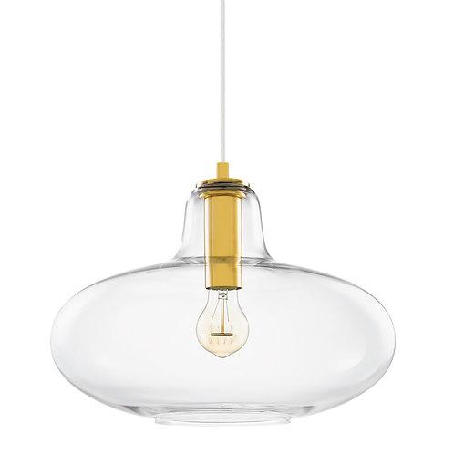Pendente em vidro e metal dourado REF 5678
