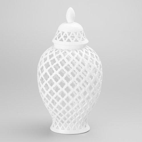 Potiche oval de porcelana G REF 8094
