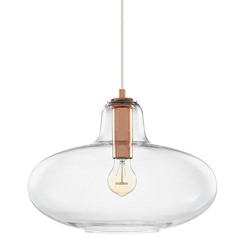 Pendente em vidro e metal cobre REF 5680