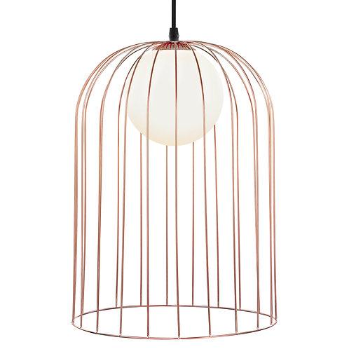 Pendente em cobre e vidro branco REF 5709