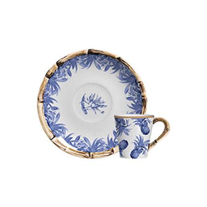 Xícara de Café c/p de Azul Royal (6 Peças)