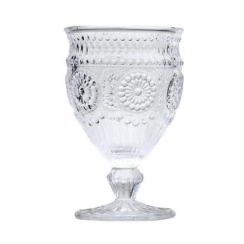 Taça de vidro para água albusson clear