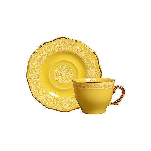 Xícara de Café c/p Mandarim Amarela (6 Peças)