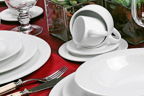 Aparelho de Jantar - Flat Branco (30 peças)