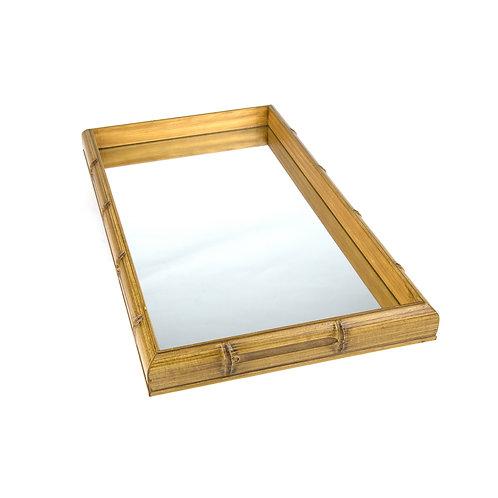 cópia de Bandeja Bambu com Espelho GRANDE