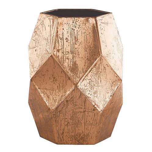 Vaso geométrico cobre REF 5556