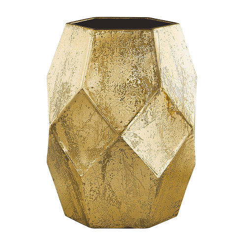 Vaso geométrico dourado REF 5551
