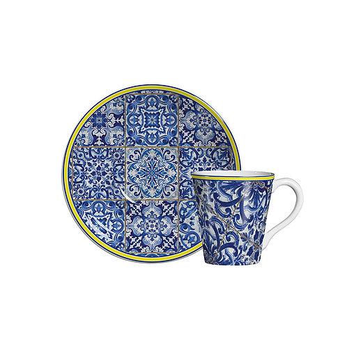 Xícara de Chá c/p Cascais (6 Peças)