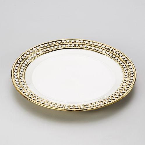 Jogo 6 pratos rasos Chame de porcelana REF 8119