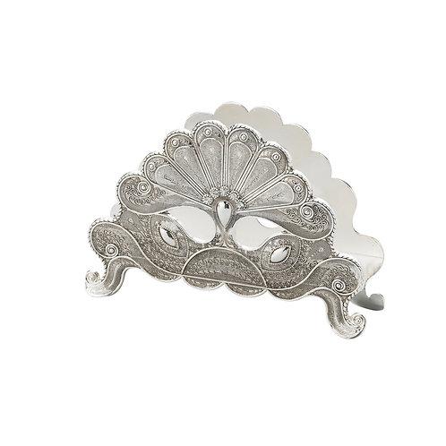 Porta guardanapo silver plated Pavão REF 3139