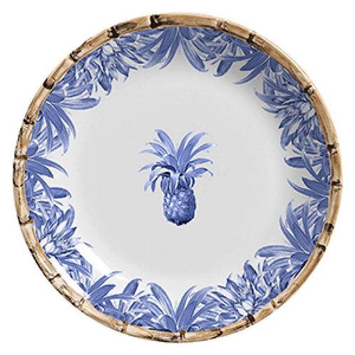 Prato Raso Abacaxi Azul Royale (6 unidades)
