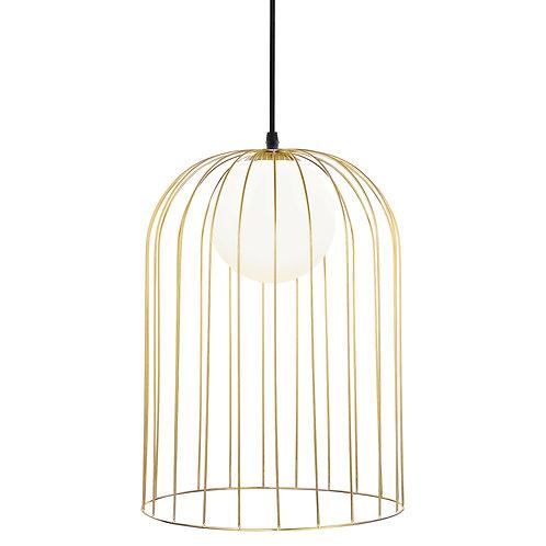 Pendente em metal dourado e vidro branco REF 5710