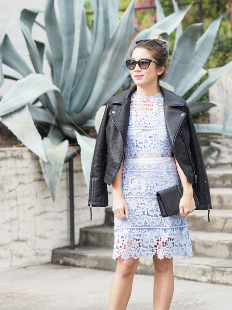 JACQUARD COLLARED DRESS