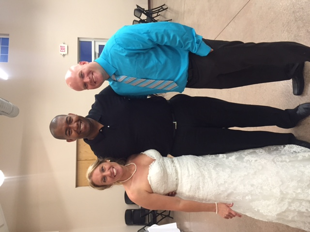 Bride and Groom with DJ Snead