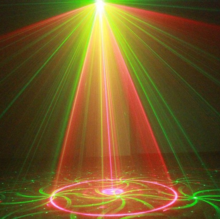 Colored laser lights and shapes
