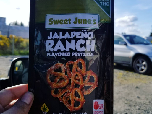 Sweet June's Jalapeno Ranch Pretzels | 10mg THC Edibles