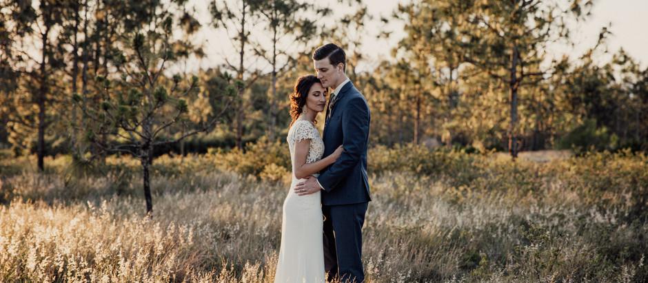 Wedding at Lake Louise, Florida