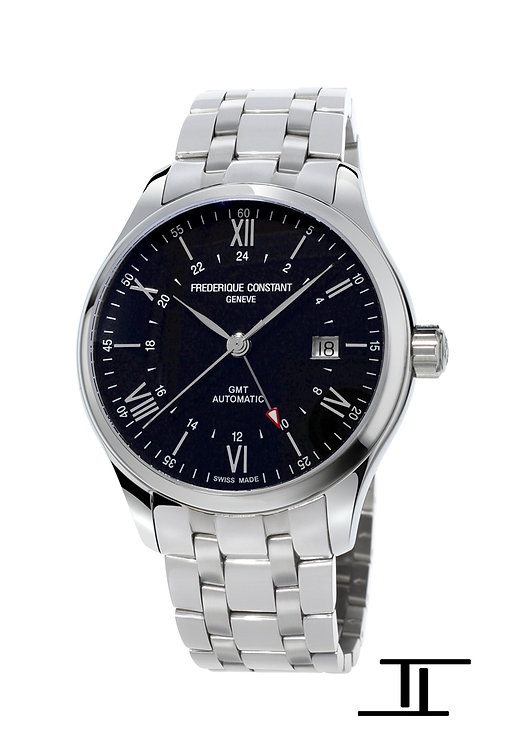 Frederique Constant Classics Automatic GMT Men's Watches Black Dial FC-350B5B6B