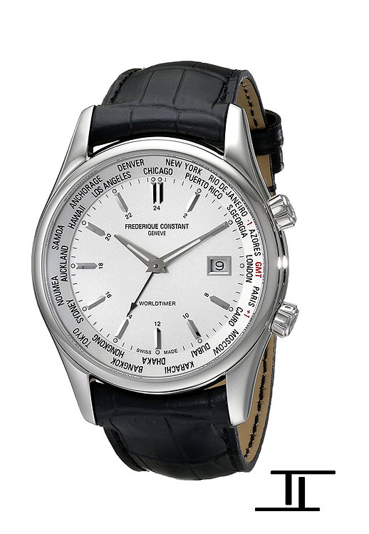Frederique Constant Classics Index Worldtimer Quartz Men's Watch FC-255S6B6