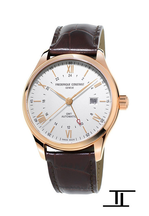 Frederique Constant Classics Automatic GMT Men's Watches Gold Plated FC-350V5B4