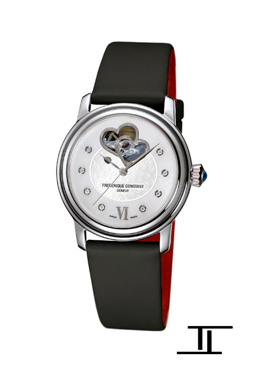 Frederique Constant Heart Beat Ladies Automatic Watch Diamonds FC-310WHF2P6