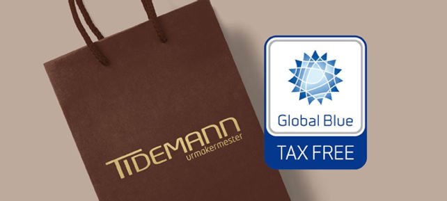 tax free Tidemann watches shop Oslo Norway