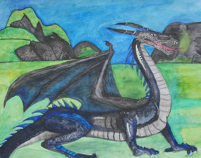 Scotish Silver Scaled Dragon
