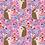 Thumbnail: Hedgehog Floral Pink Cotton Jersey Per Half Metre