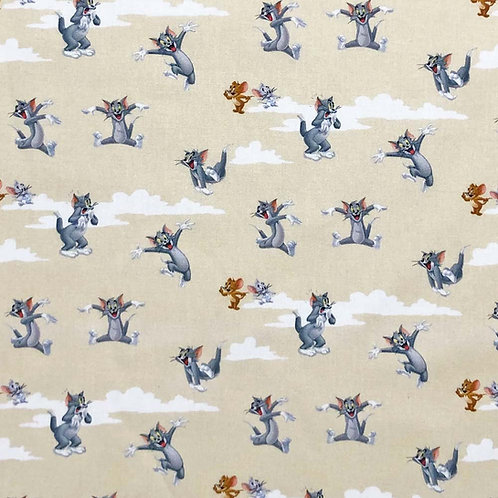 Tom and Jerry Licensed 100% Cotton Per Half Metre