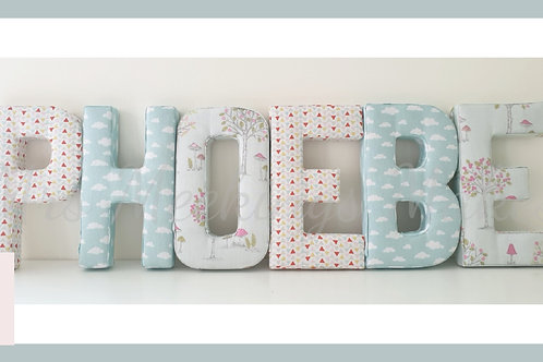"""8"""" Free Standing Fabric Covered Letters"""