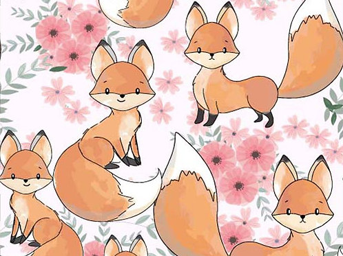 Baby Fox 100% Cotton Per Half Metre