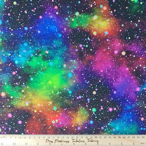 Speckled Galaxy Universe 100% Cotton Per Half Metre