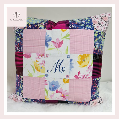 Patchwork Memory Keepsake Cushion