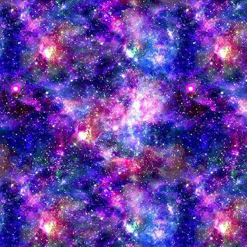 Universe Galaxy Blue and Purple 100% Cotton Per Half Metre