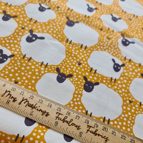 Sheep and Spots Jersey Per Half Metre