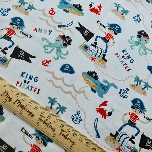 Yo Ho Me'hearties Cotton Jersey Per Half Metre