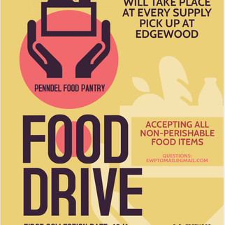 Food Drive - First Collection Date October 1st.