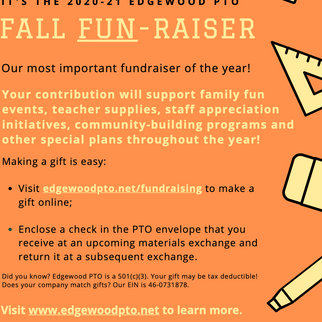 Fall FUN-Raiser is LIVE!!!