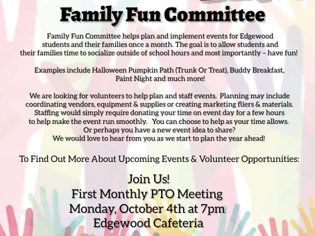 Family Fun Looking for Volunteers